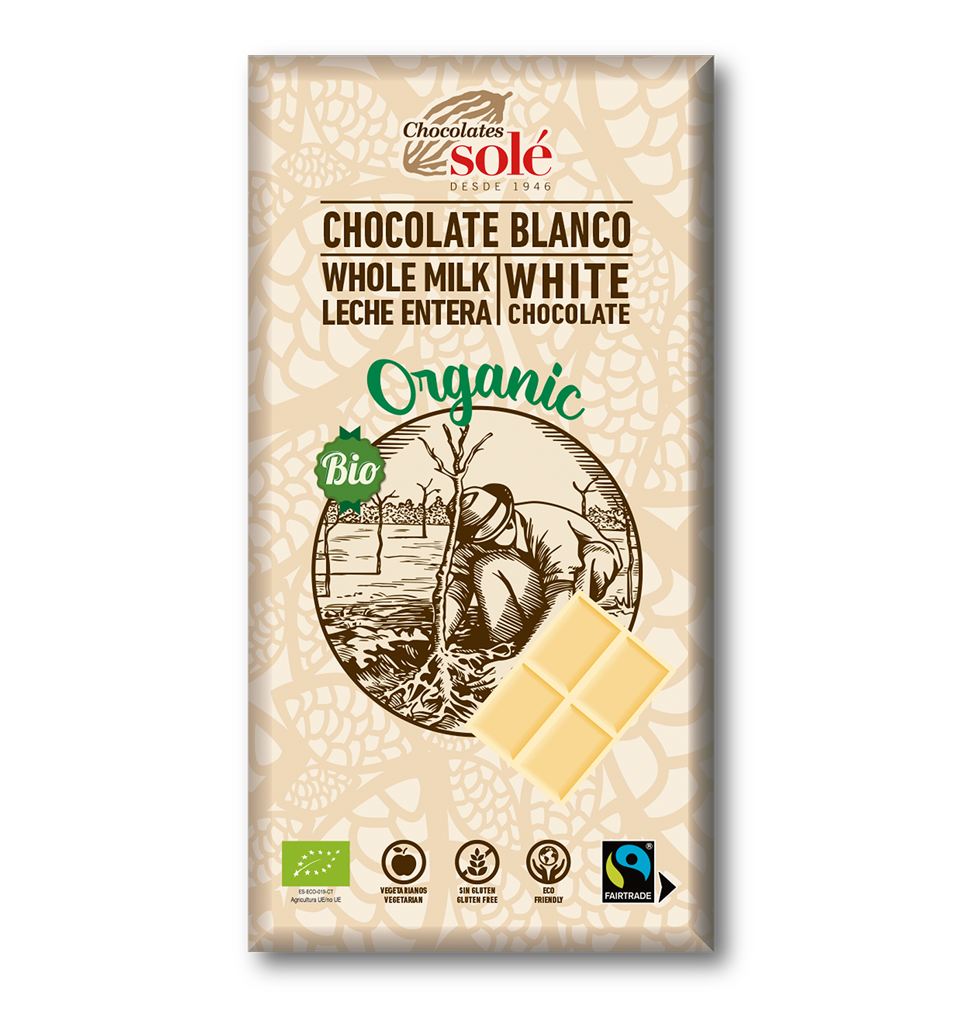 Foto de CHOCOLATE BLANCO BIO 100 GR SOLE