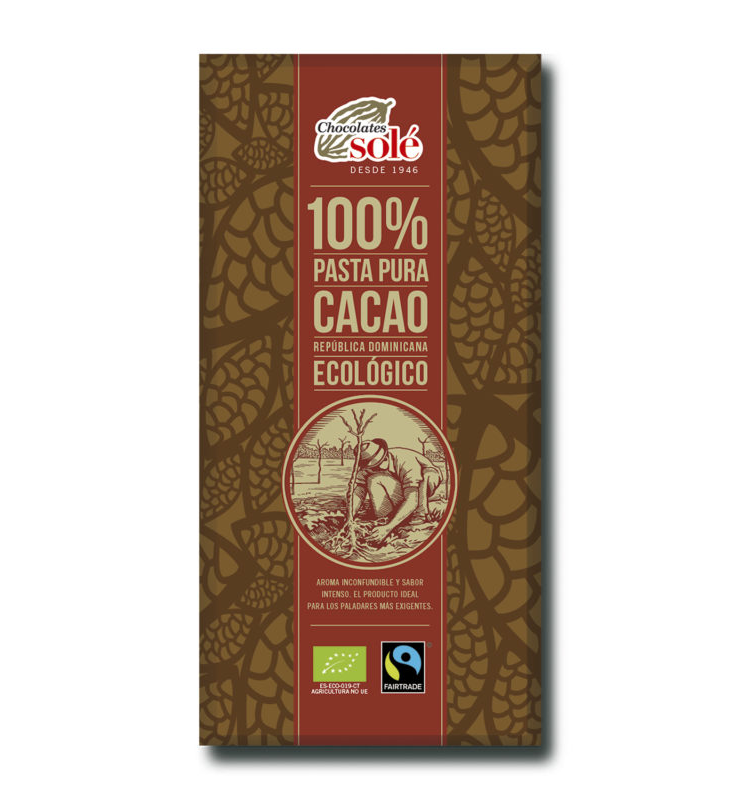 Foto de CHOCOLATE 100% BIO 100 GR SOLE